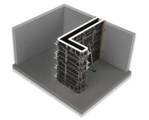Ścienny system szalunkowy BAUFRAME